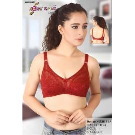 Designer mesh padded full coverage nixie bra