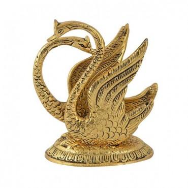 kamakshi art Table Décor metal double swan Napkin Holder