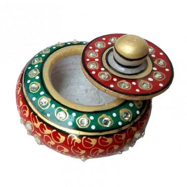 kamakshi art marble sindoor dibbi or box for women gift