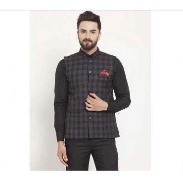 ARUNA KULLU HANDLOOM Men's Tweed Bandhgala Nehru Jacket