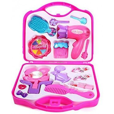 Beauty Makeup Cosmetic Set Suitcase, Durable Kit Hair Salon with Makeup Accessories for Girls
