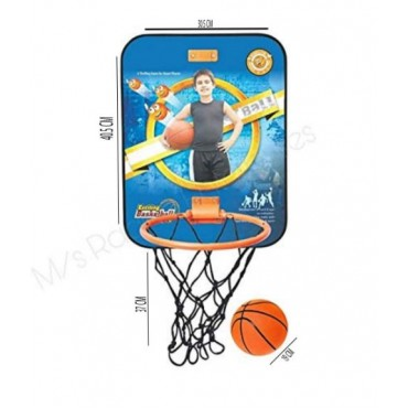 Adjustable Basket Ball Kit with Hanging Board Stand for Kids