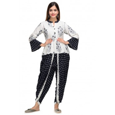 Top and Dhoti Style Bottom for girls and womens