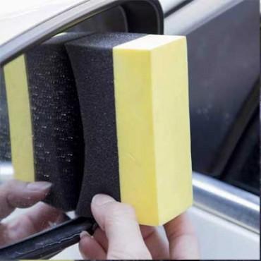 2pcs Car Vehicle Care Washing Sponge Brush Pad Cleaning Wheels Tyre Waxing Tool