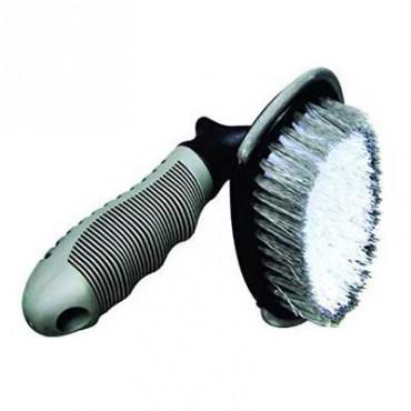 Sky Car Wheel Tyre Rim Scrub Bristle Brush Hub Clean Wash Useful Brush Car, Truck, Motorcycle, Bike, Washing Cleaning Tool Set of 1