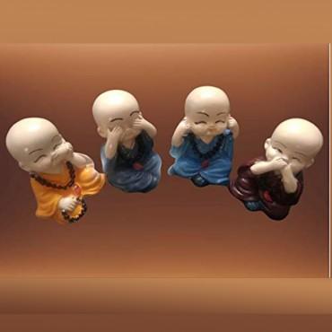 Kamkashi art poly resin smoke fountain baby monk buddha burner