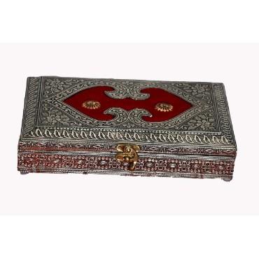 BGSA Square Designer, Decorative, Handicraft Empty Dry Fruit Gift Box/Marrige Gift Box/Wooden Dry Fruit Box/Sweets Box/Gift Box, Supari Box (Four Section Box) 3