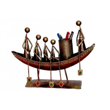 BGSA Antique Decorative Pen Stand Gift Item,Best for Home Decor and Office Tables (Boat PENSTAND)