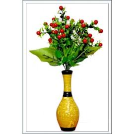 BGSA Blossom Flower Pot Home Decorative Flower Pot (Metal) LXHXW- 10X20X10 CM-000GOLD
