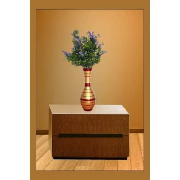 BGSA Blossom Flower Pot Home Decorative Flower Pot (Wooden) LXHXW- 30X13X13 cm-(Golden)