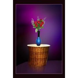 BGSA Blossom Flower Pot Home Decorative Flower Pot (Wooden) LXHXW- 28X13X13 CM-001