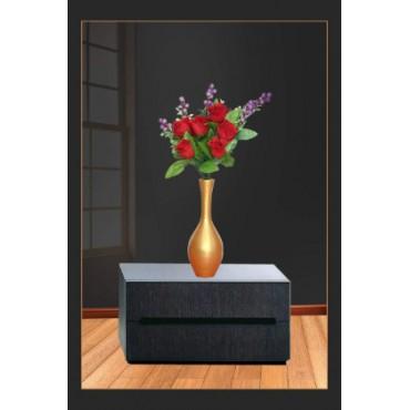 BGSA Blossom Flower Pot Home Decorative Flower Pot(Wooden) L X H X W- 30X13X13 CM-00011