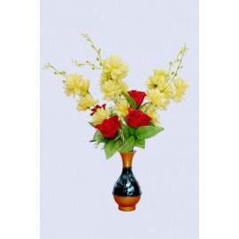 BGSA Blossom Flower Pot Home Decorative Flower Pot (Metal) LXHXW- 10X20X10 CM-0001