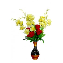 BGSA Blossom Flower Pot Home Decorative Flower Pot (Metal) LXHXW- 10X20X10 cm-1