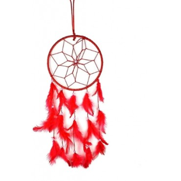 BHAGYSHREE Art Natural Feathers Dream Catcher for Car & Wall Hanging Attract Positive Dreams Showpiece Wind Chems Model-103