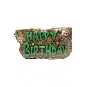 BGSA Happy Birthday Stone Quotation 7.5X23X3 cm