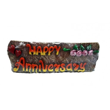 BGSA Happy Anniversary Stone Quotation 7.5X23X3 cm