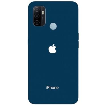 bmb shoppe apple blue logo printed soft designer mobile back cover for oppo a53