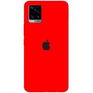 BMB Shoppe Apple Logo red & Black Printed Soft Designer Mobile Back Cover for Vivo V20 Pro