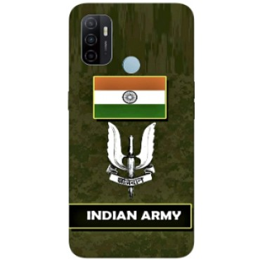 BMB Shoppe Army Sign Flag Printed Soft Designer Mobile Back Cover for Oppo A53