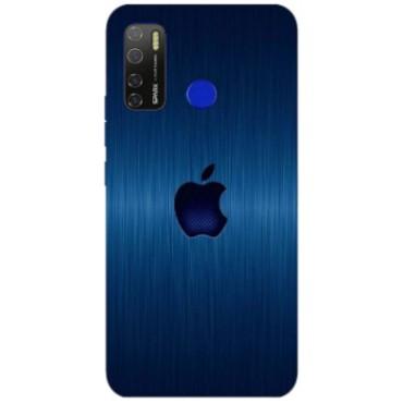 BMB Shoppe Apple Logo Blue Printed Soft Designer Mobile Back Cover for Tecno Spark 5 Pro