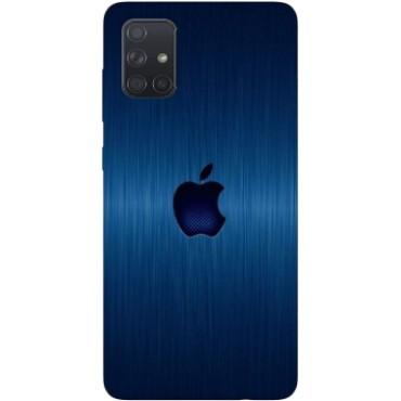 BMB Shoppe Apple Logo Blue Printed Soft Designer Mobile Back Cover for Samsung A71
