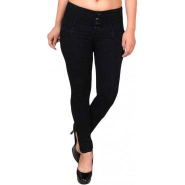 Slim Women Black Jeans