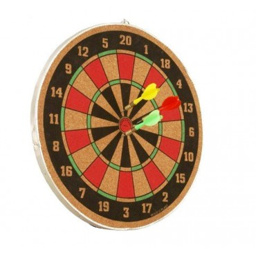 arnav 16 Inch Both Side Playing Dart Board Set Indoor Game with 3 Pins