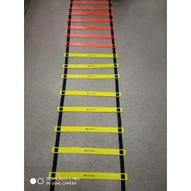 Arnav 16 Rungs Multicolour Heavy Duty Adjustable Soccer Speed Agility Ladder Fitness Feet Sport Training Speed Agility Ladder 4/6/8 Meter Long with Adjustable Flat Rungs With Carry Bag Quickness Training Faster Footwork & better Movement Skills /Exercise