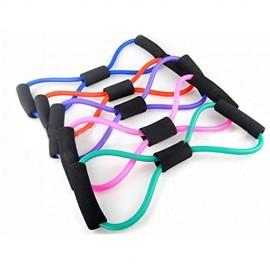 Arnav 8Type Yoga Tube Rubber Latex Muscle Training Resistance Band Elastic Pull Rope Gym Fitness Equipment