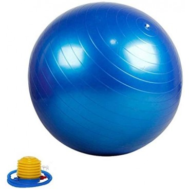 Arnav Anti Burst Gym Ball Swiss Ball with Foot Pump for Total Body Fitness and Abdominal Toner Exercise Workout Yoga Ball/(Colour May Vary)