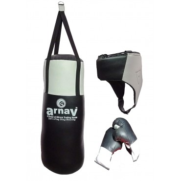 Arnav Boxing Punching Kit with Gloves and Safety Head