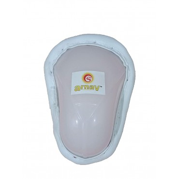 Arnav Export Quality Support Abdomen Guard for Cricket and Hockey Natural Colour Set of 2 Pcs