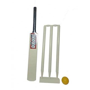 arnav Junior Combo Wooden Cricket Kit (1 Bat/ 3 Wickets with Base/ Bails and Ball) 5 No (30