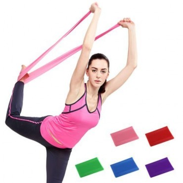 Arnav Latex 2 Pc Resistance Toning Band/ Yogs Stretch Band/ Yoga Resistance Loop Band Exerciser- Assorted Colors