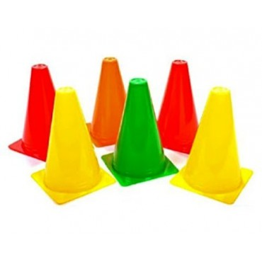 arnav Plastic Field Marker 12 Inch Agility Training Cones in LDPE Plastic for Sports Training/ Traffic Cone/ Skating and Outdoor Marker Cones for Soccer Cricket Track Ground Space and Field Sports