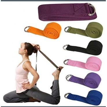 arnav Men and Women Sport Yoga Stretch Strap D-Ring Belt Gym Waist Leg Fitness Adjustable Belt