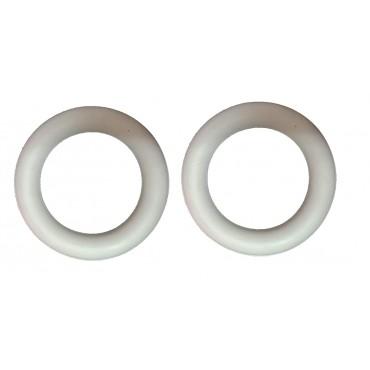 arnav Tennikoit Ring Rubber Frisbee Ring Traditinal Garden Throwing White Outdoor