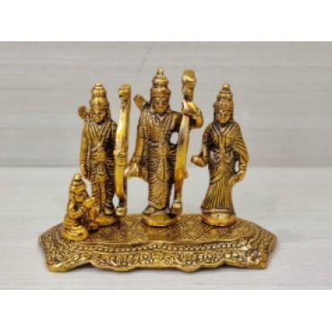 Lord Ram Darbar Idol Metal Showpiece Hindu Religious Idols Ram Sita Laxman Hanuman Murti Puja Decoration Items