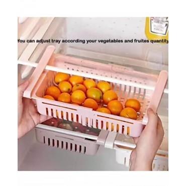 Adjustable Fridge Storage Basket Fridge Racks Tray Sliding Storage Racks