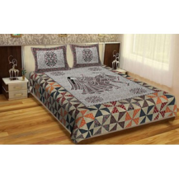100% cotton 3d printed double bedsheet 100*108 king size 1 bedsheet 2 pillow cover