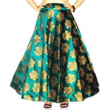 Brocade fabric skirts/lehenga for womens and girls-142