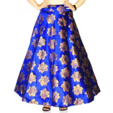 Brocade fabric skirts/lehenga for womens and girls-143