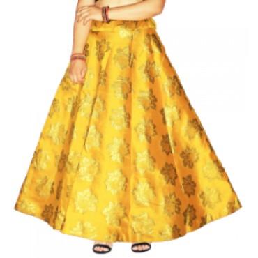 Brocade fabric skirts/lehenga for womens and girls-144