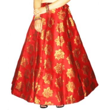 Brocade fabric skirts/lehenga for womens and girls-145