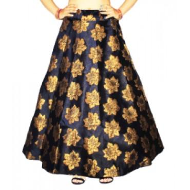 Brocade fabric skirts/lehenga for womens and girls-146