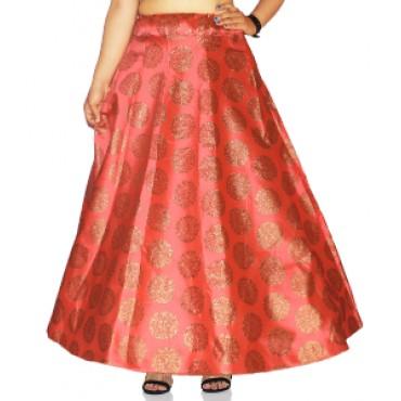 Brocade fabric skirts/lehenga for womens and girls-147