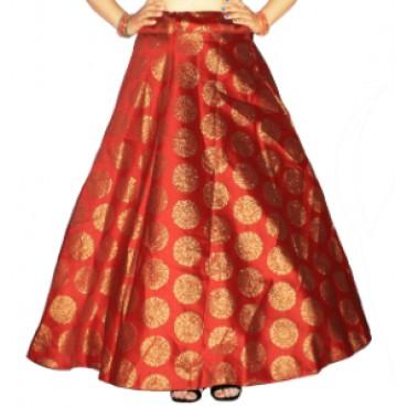 Brocade fabric skirts/lehenga for womens and girls-150