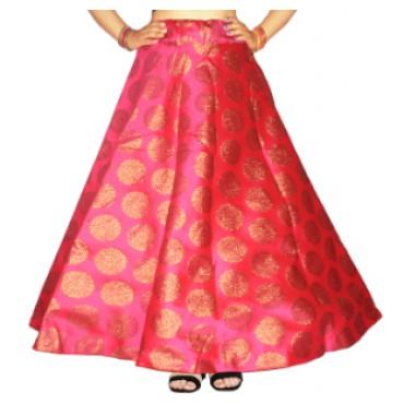 Brocade fabric skirts/lehenga for womens and girls-151