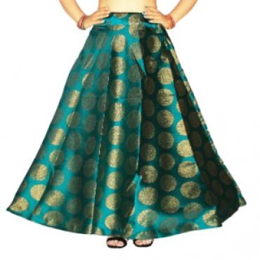 Brocade fabric skirts/lehenga for womens and girls-153